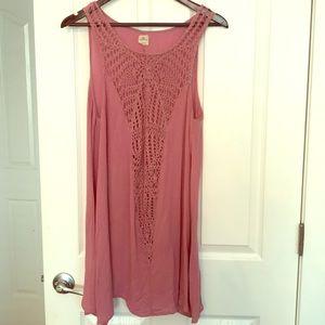 O'Neill Crocheted beach coverup dress